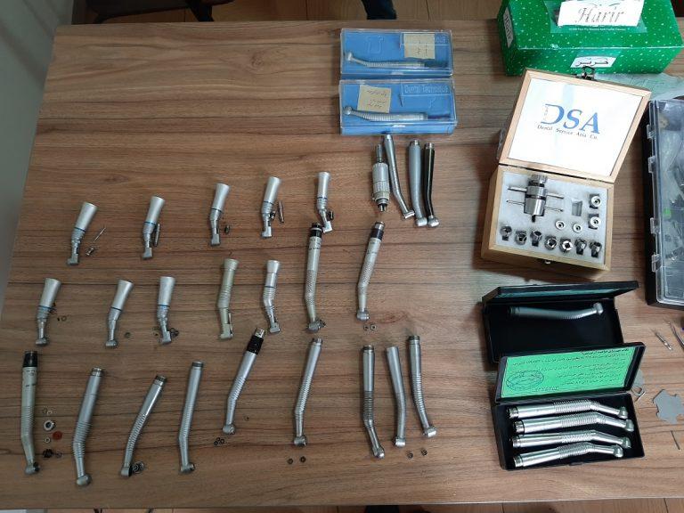 تعمیر توربین و آنگل های دندان پزشکی