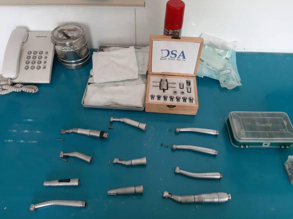 نمونه تعمیر توربین و آنگل های دندان پزشکی